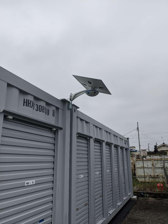 コンテナヤード用太陽光LED防犯カメラ