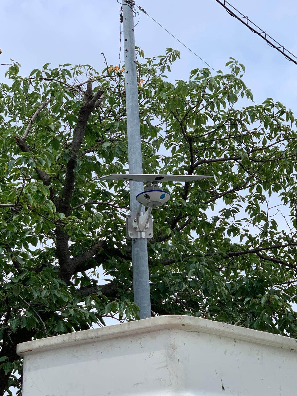 太陽光防犯カメラアムスカム設置例
